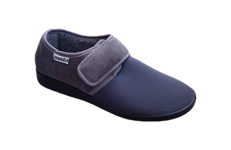 emanuela-calzatura-fisiologica-uomo-con-velcro-col-grigio