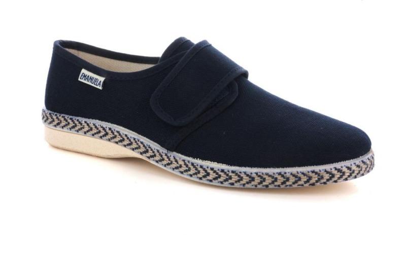 emanuela-calzatura-fisiologica-uomo-con-velcro-col-blu