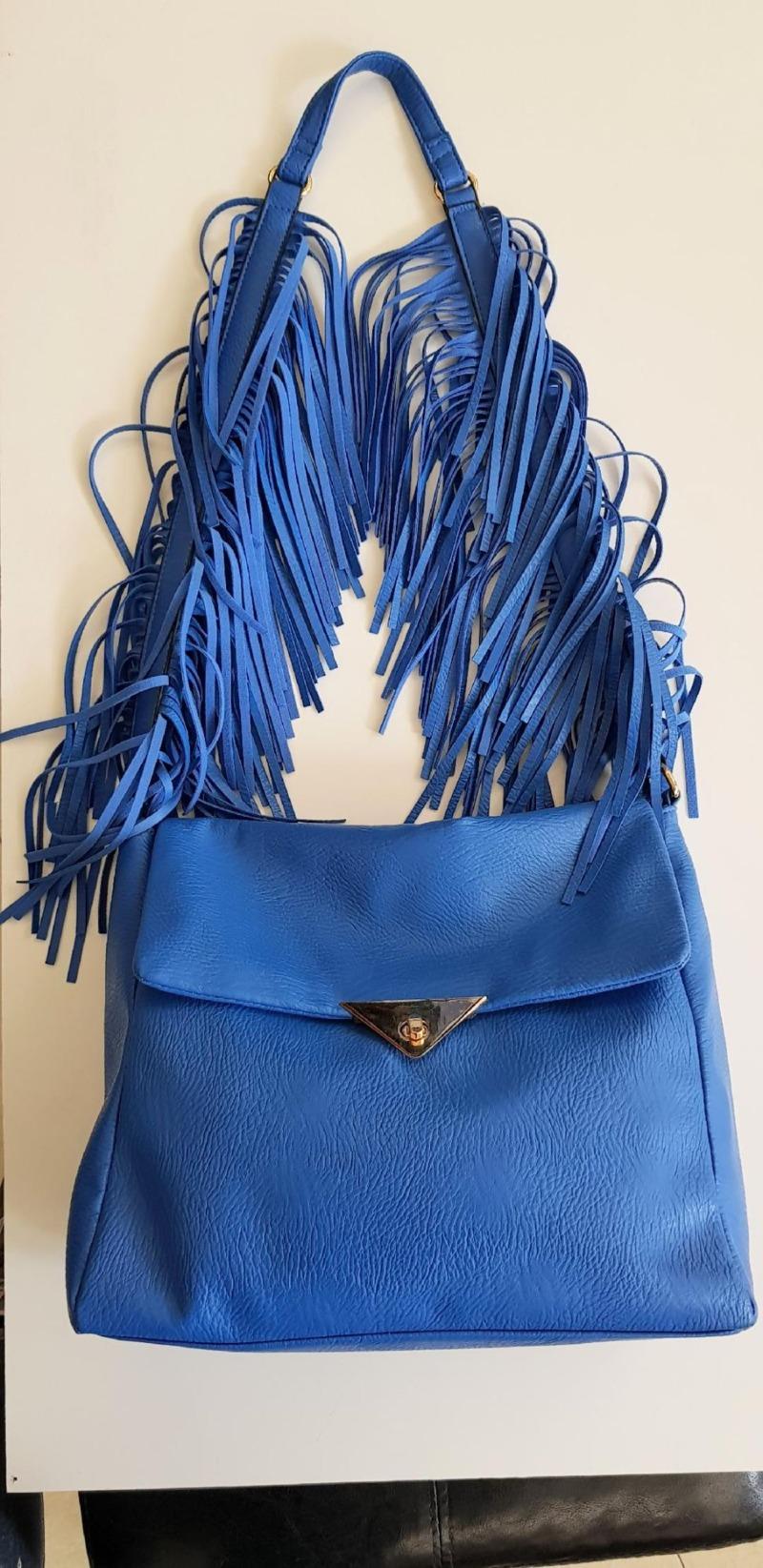 borsa-donna-con-frange-blu