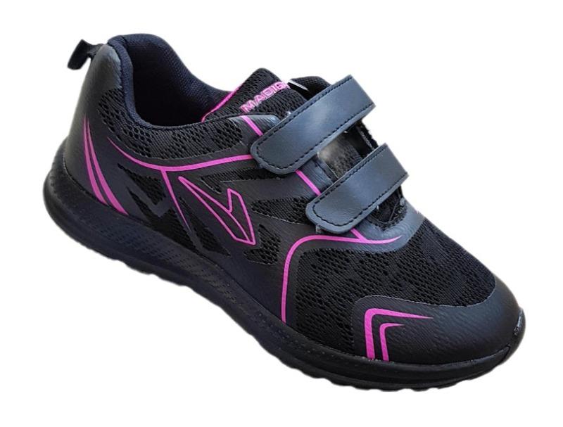madigan-calzatura-sportiva-doppio-velcro-donna-col-fuxia-nero